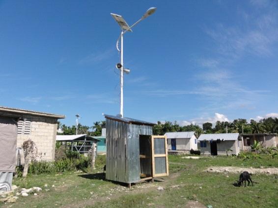 写真3:防犯用の囲い小屋