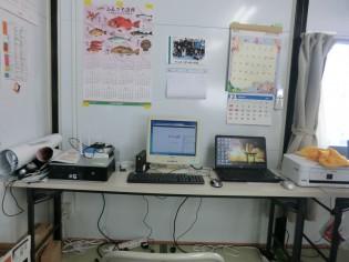 仮設住宅団地に設置したパソコン