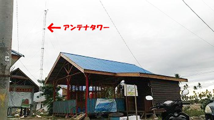 放送スタジオ外観・アンテナタワー
