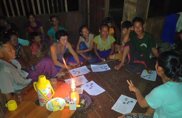 村人に計画とスケジュールについて説明